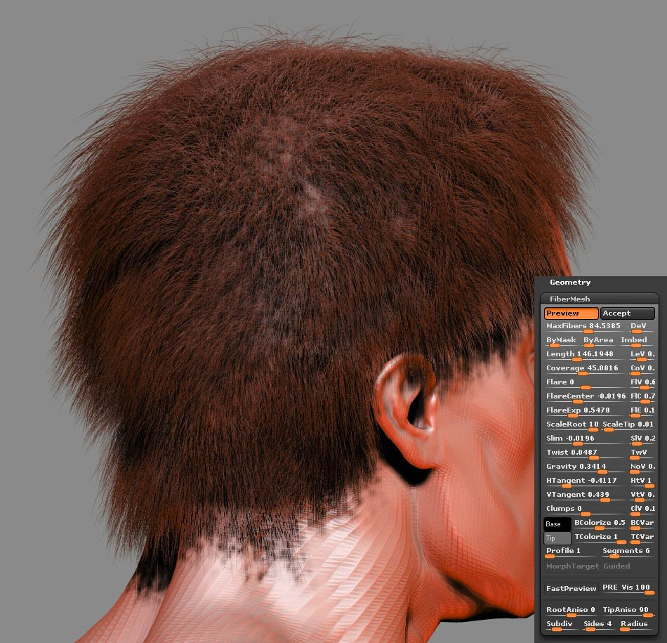 FiberMesh hair Settings001