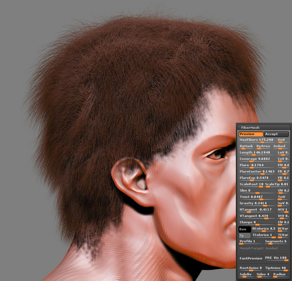FiberMesh hair Settings002