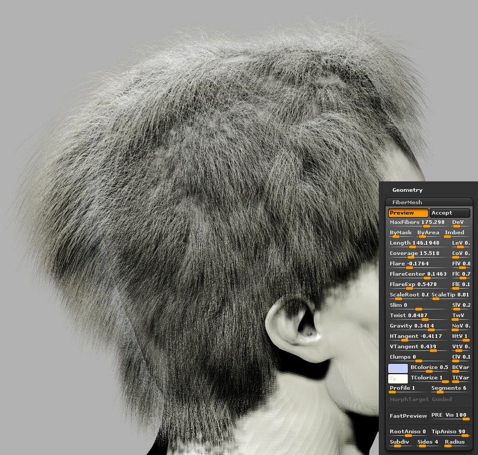FiberMesh hair Settings003