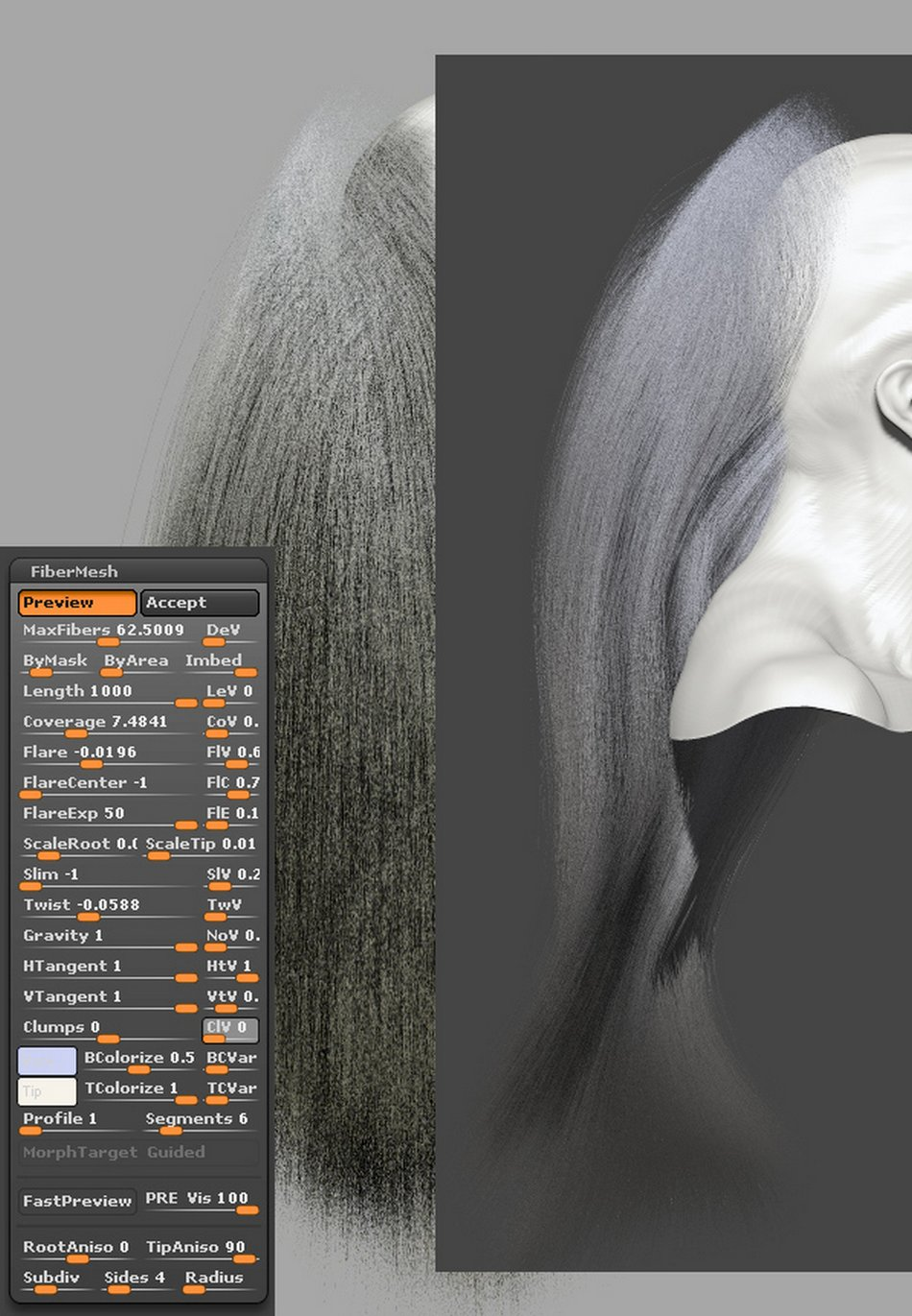 FiberMesh hair Settings004