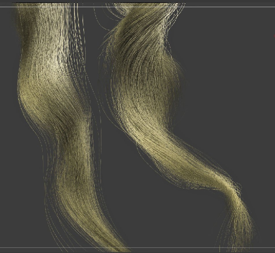 ZBrush FiberMesh long combed curly hair