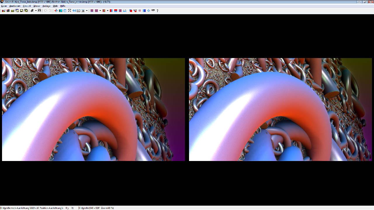 Paralleleanordnung der Bilder