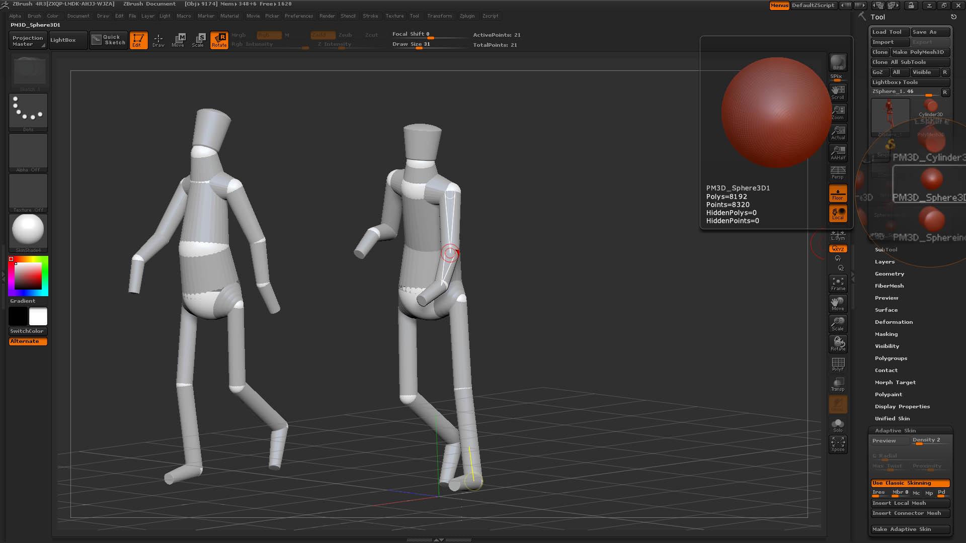 Mannequin aus einem 3D Polymesh