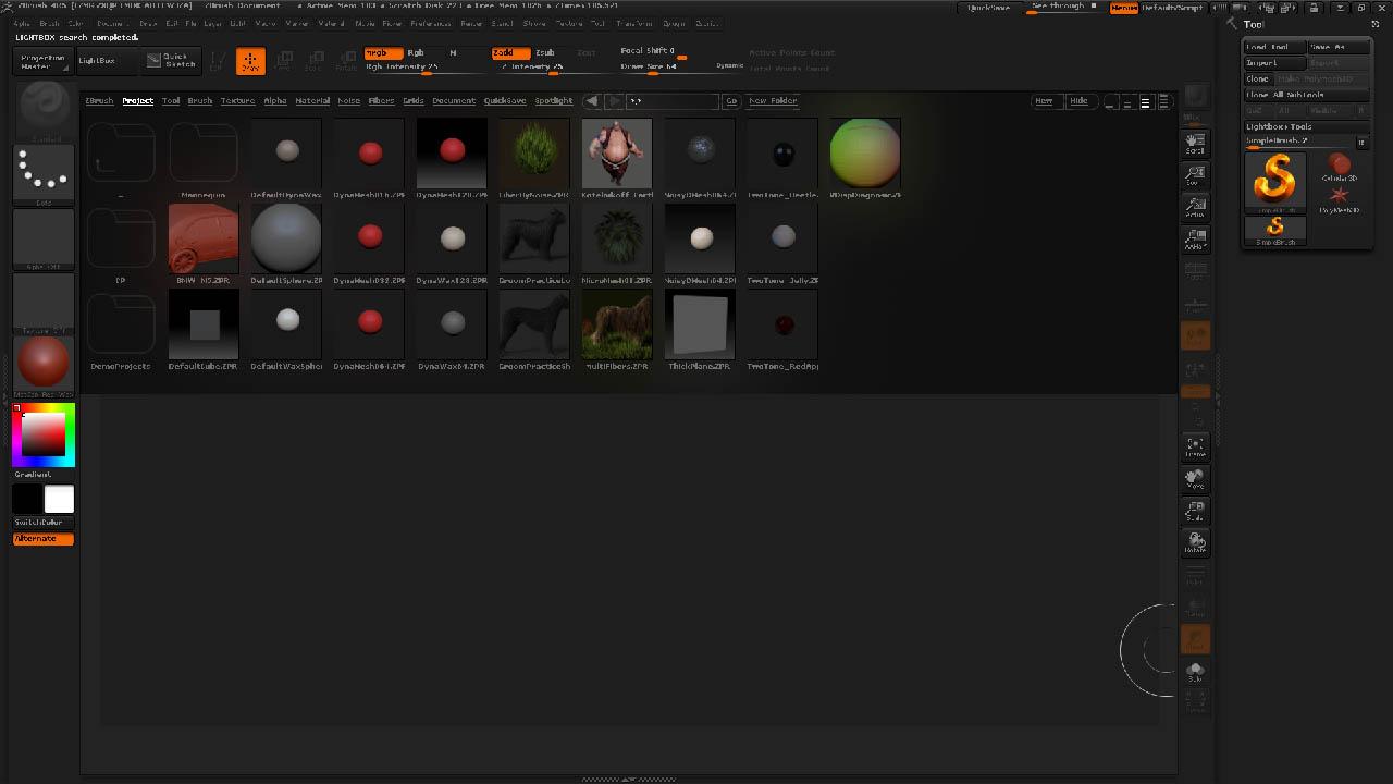 ZBrush 4R5 Neues Erscheinungsbild der LightBox