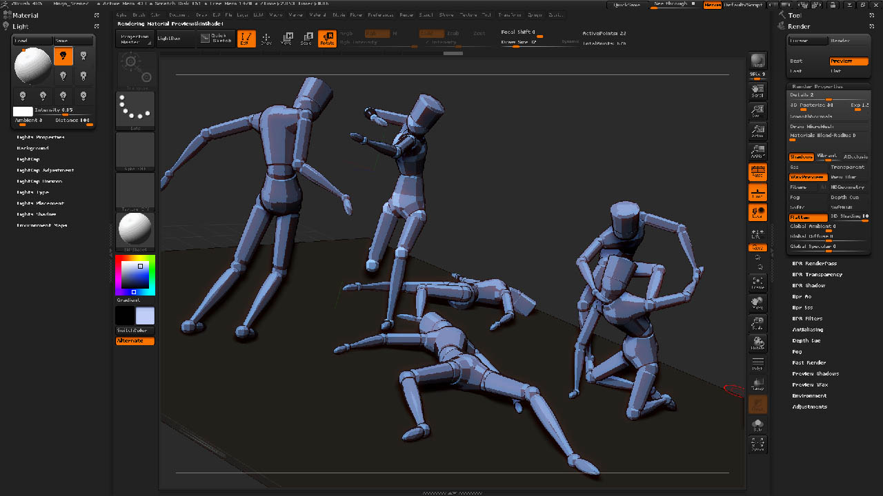 posterize material in zbrush