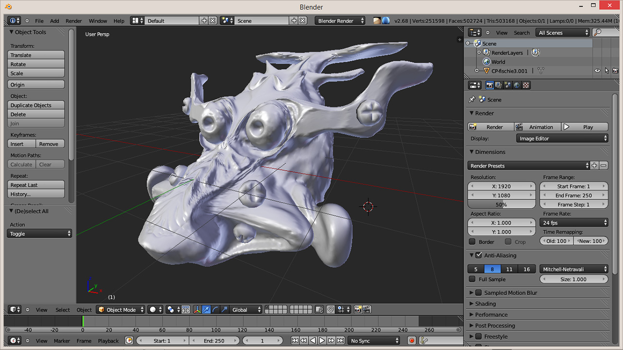 Blender 3D Sculptris OBJ Import