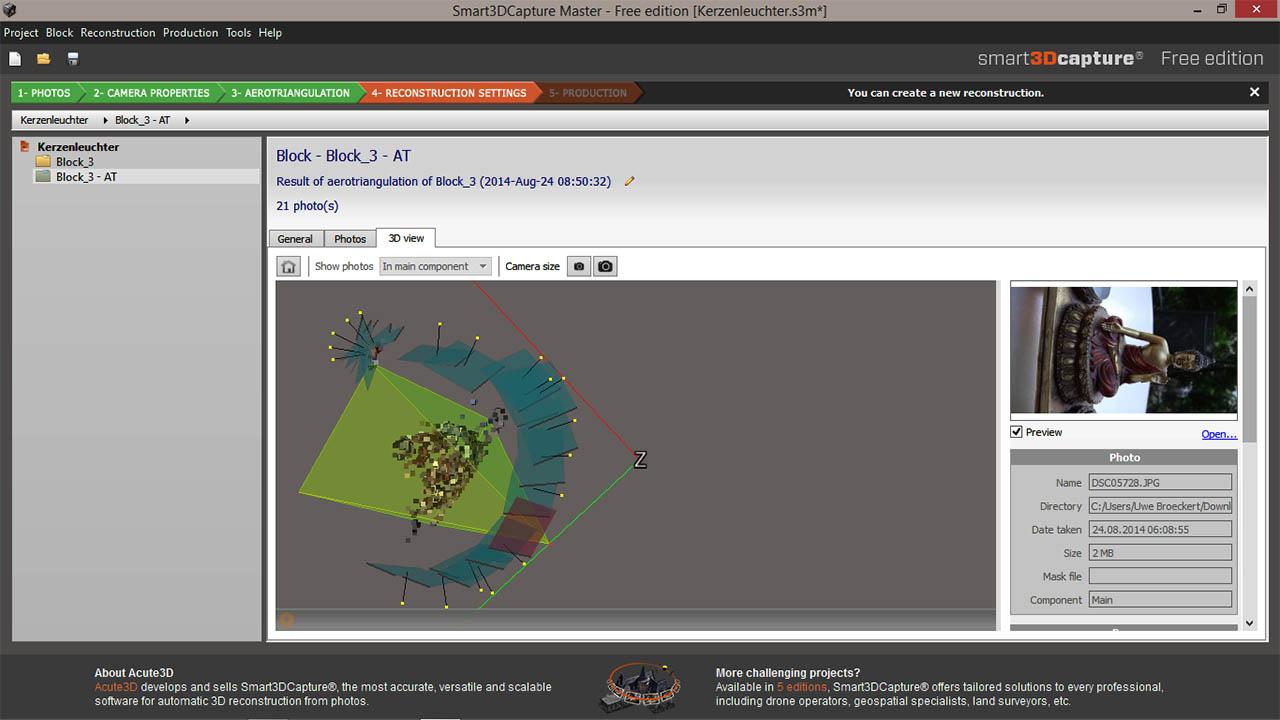 Fotovorschau auf der 3D Ebebe