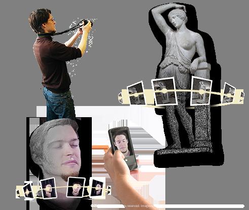 Bilder von einem 3D Objekt aufnehmen