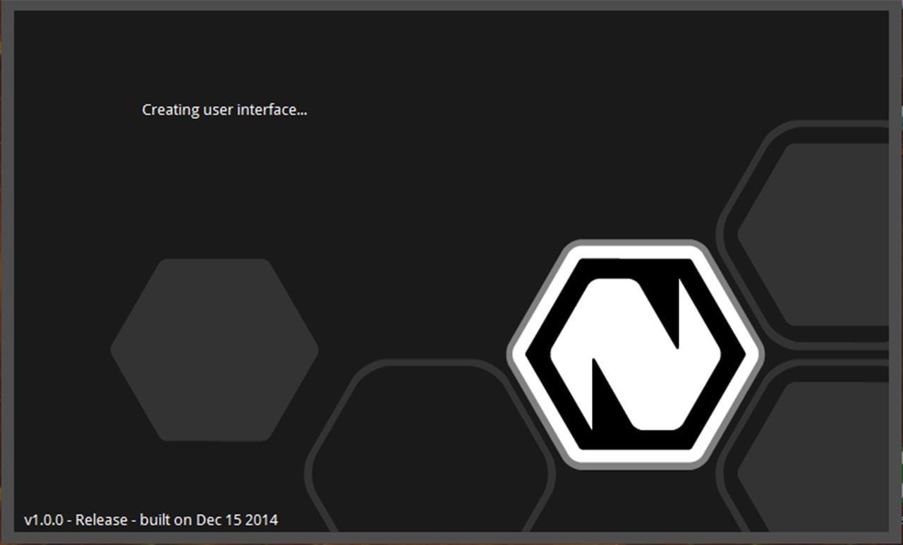 Natron 1.0 Startbildschirm