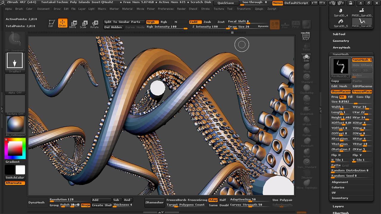 Tentakel mit NanoMesh-Screenshot