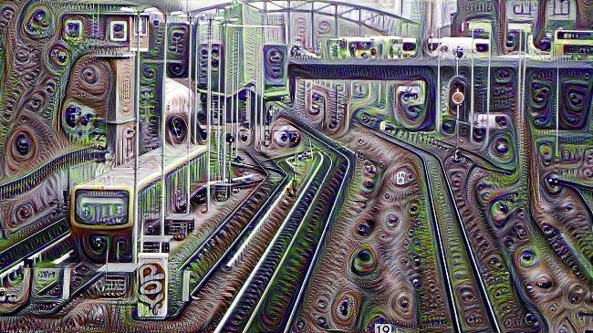 Eine Berliner S-Bahn auf LSD. DeepDream