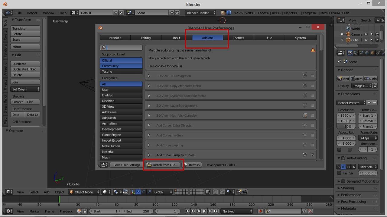 Blender- Install from File
