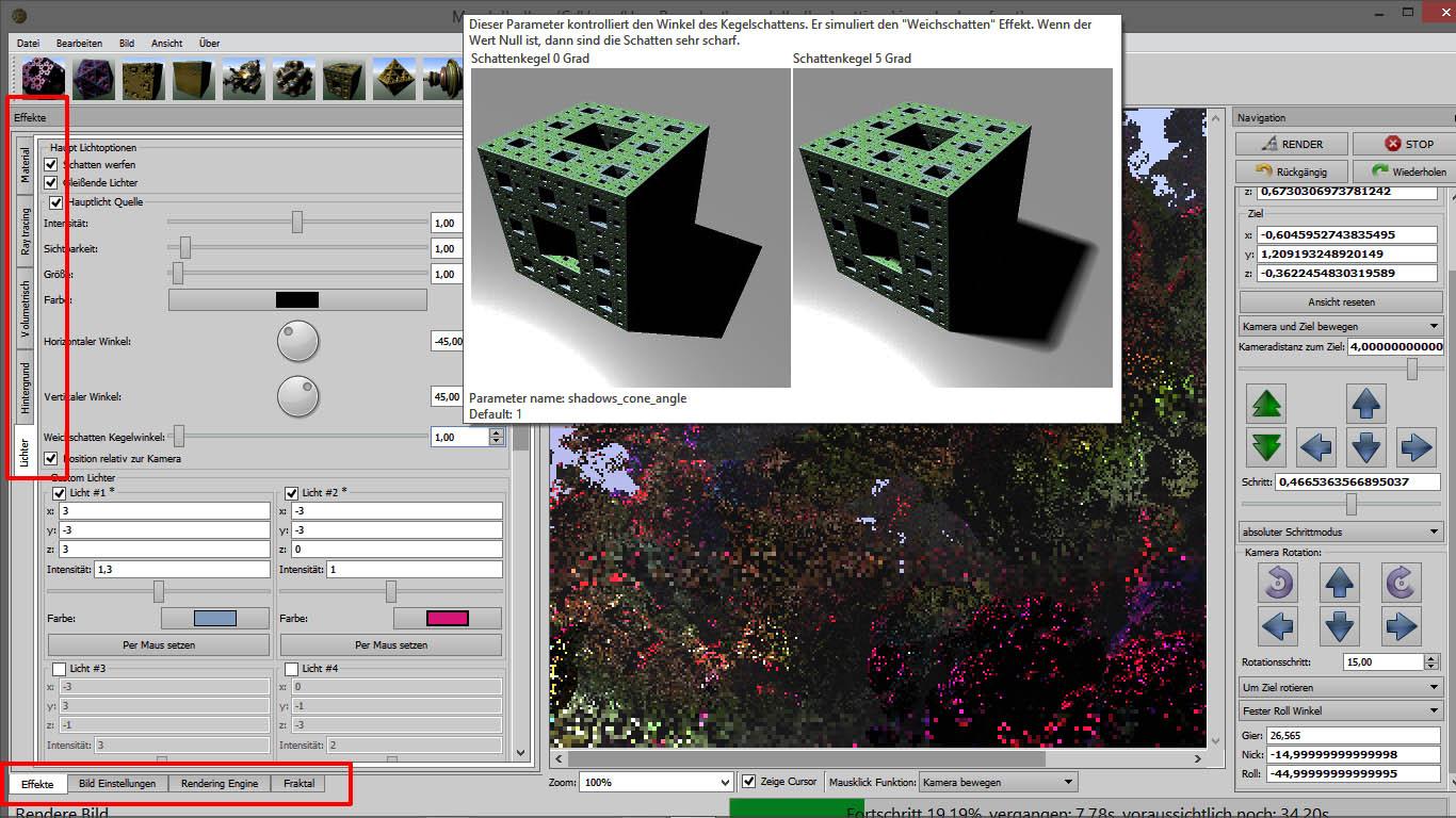 Mandelbulber V2 Screenshot 4 Effekte