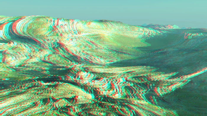 Red/Cyan Stereoscopic CGI Vue Infinite Landscape