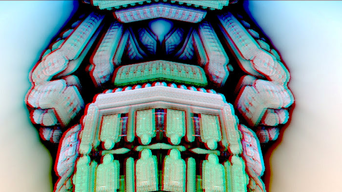 Red/Cyan Stereoscopic CGI Blocks