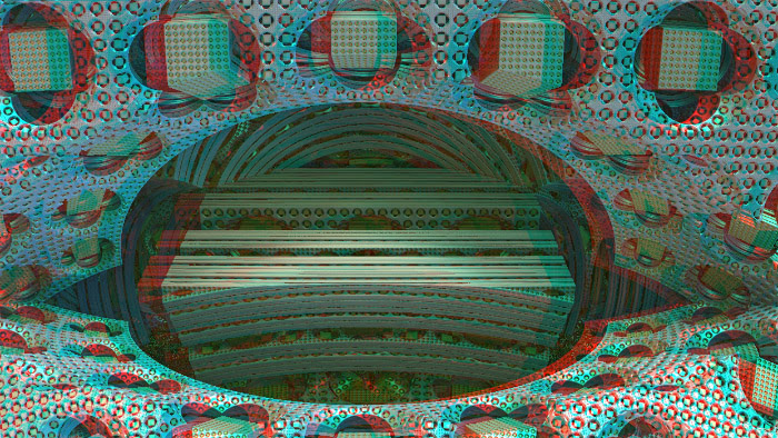 Red/Cyan Stereoscopic CGI Rooms