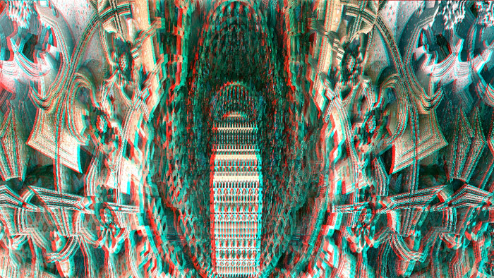 Red/Cyan Stereoscopic CGI  City Hall