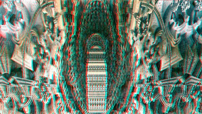 Red/Cyan Stereoscopic CGI  City Hall