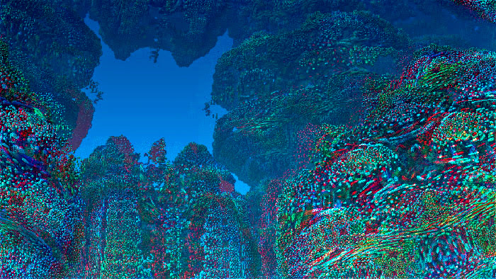 Red/Cyan Stereoscopic CGI Coral Reef