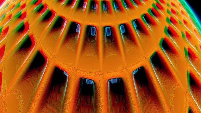 Red/Cyan Stereoscopic CGI Mandelbulb 3d technical