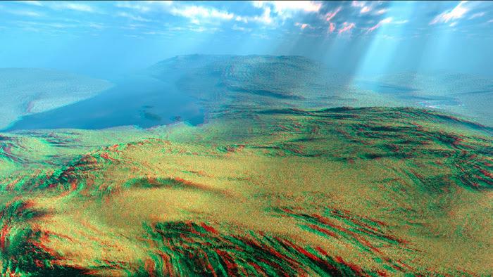 Red/Cyan Stereoscopic CGI Vue Infinite Landscape
