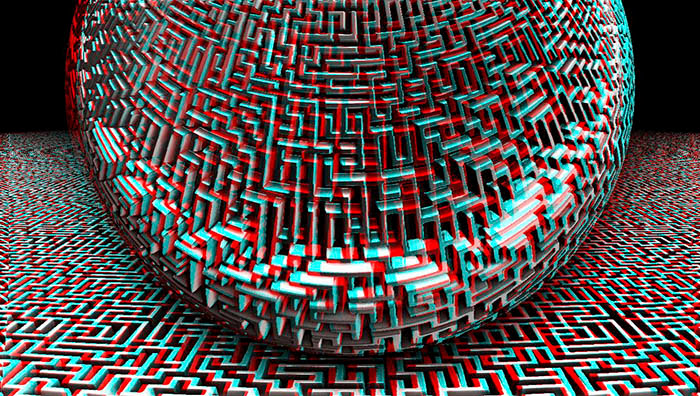 Red/Cyan Stereoscopic CGI Hight Map
