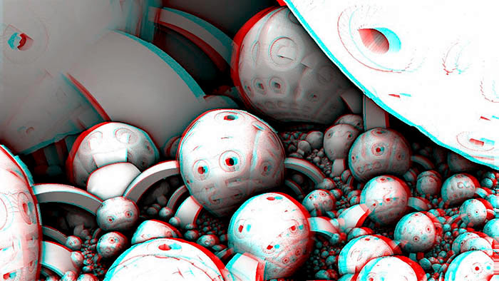 Red/Cyan Stereoscopic CGI  Mandelbulb 3d Doors 2