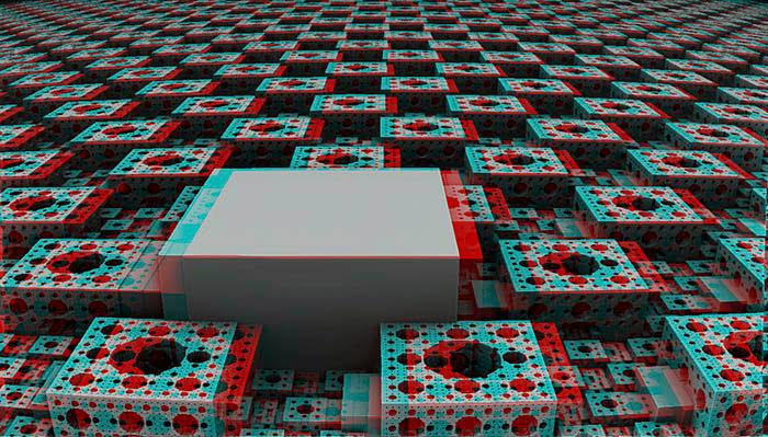 Red/Cyan Stereoscopic CGI Hight Map 2
