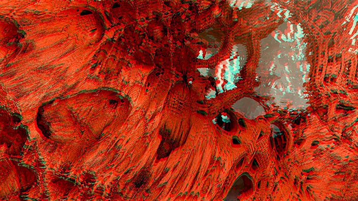 Red/Cyan Stereoscopic CGI Mandelbulb 3d Living Rooms