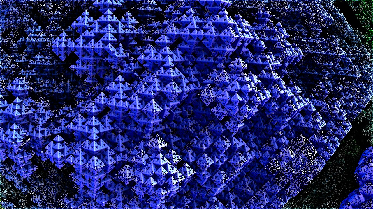 Mandelbulb 3D Fractal Plastic Mountain Village