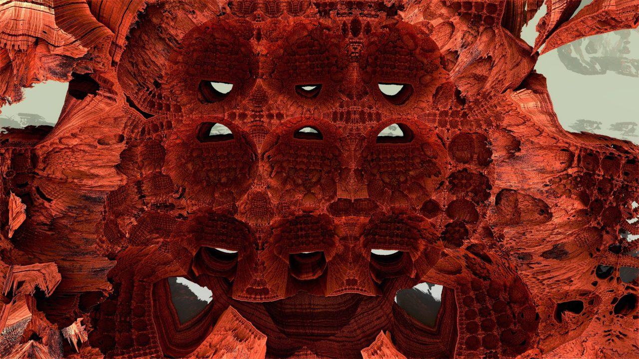 Mandelbulb 3D Fractal Felswohnungen