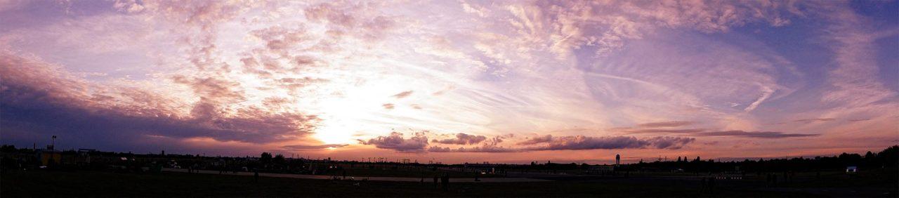 Tempelhofer Feld Panorama Sonnenuntergang