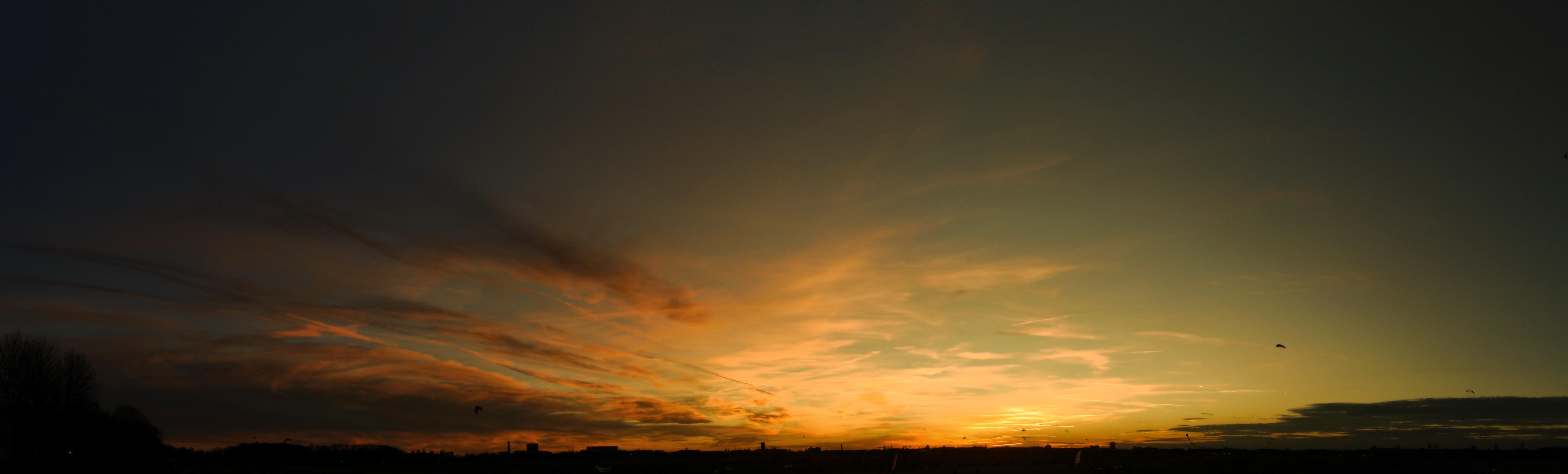 Sonnenuntergang Tempelhofer Feld Panorama