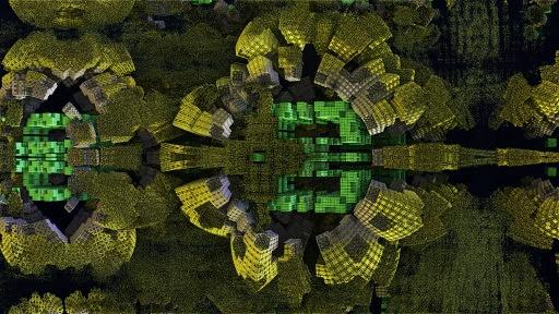 Mandelbulb 3D Fractal ground and fusion