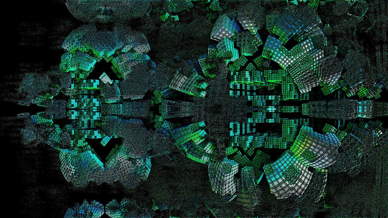 Mandelbulb 3D Fractal ground and fusion 4