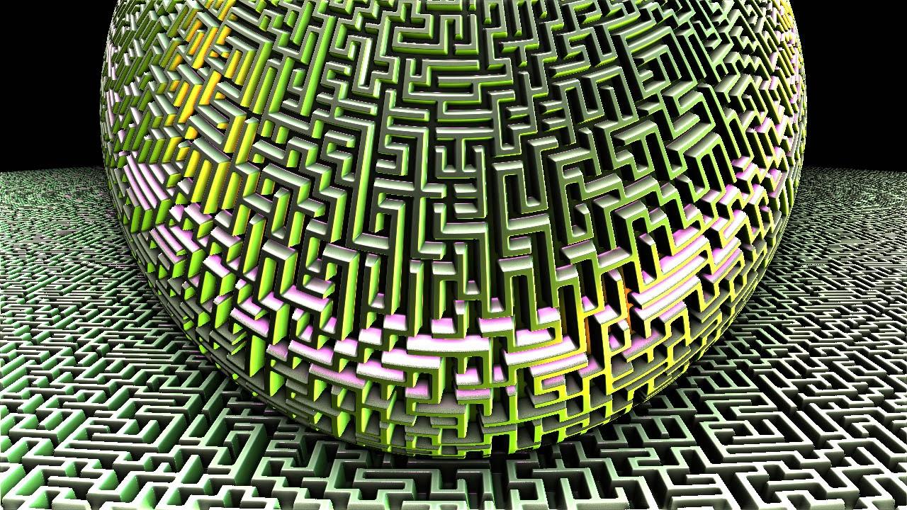 Mandelbulb 3D Fractal hightmap