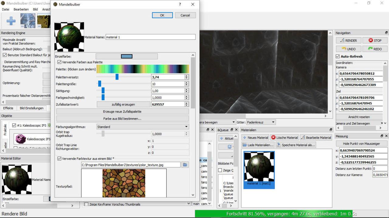 Mandelbulber_Material Palette 1