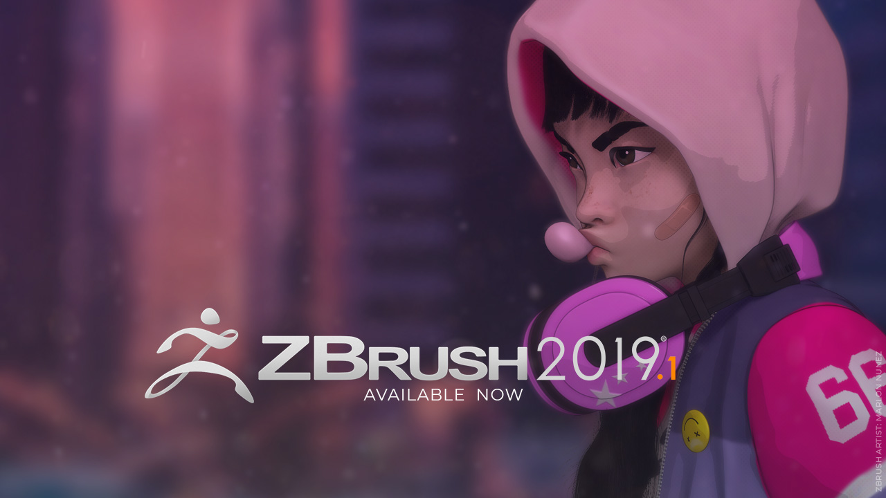 ZBrush 2019.1 Cover by Pixologic.com