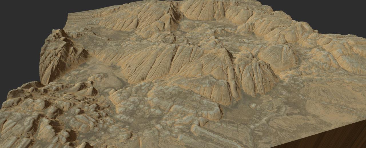 Gaea eroded-soft-rocks