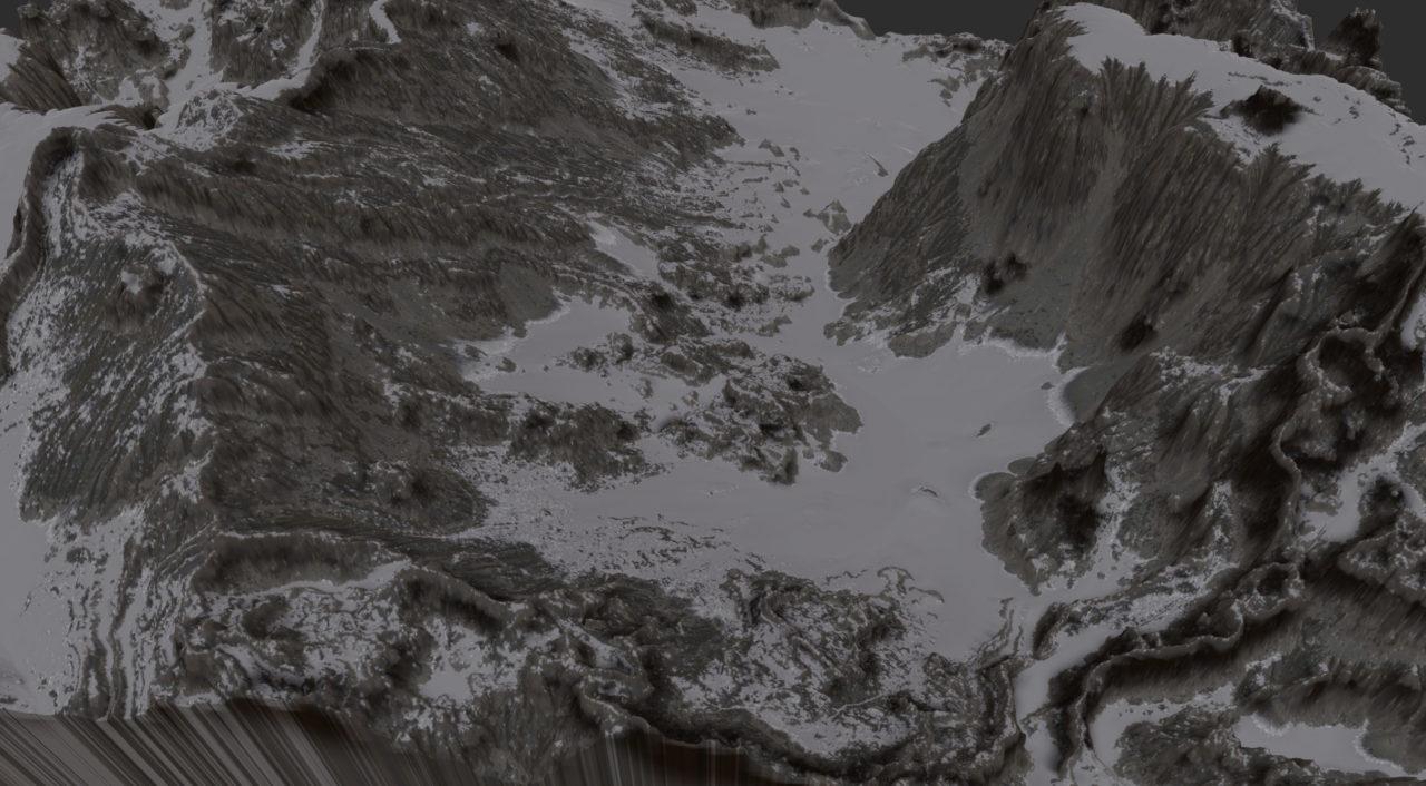 Gaea snowy mountain