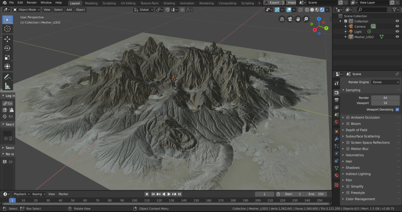 Gaea and Blender 2.8