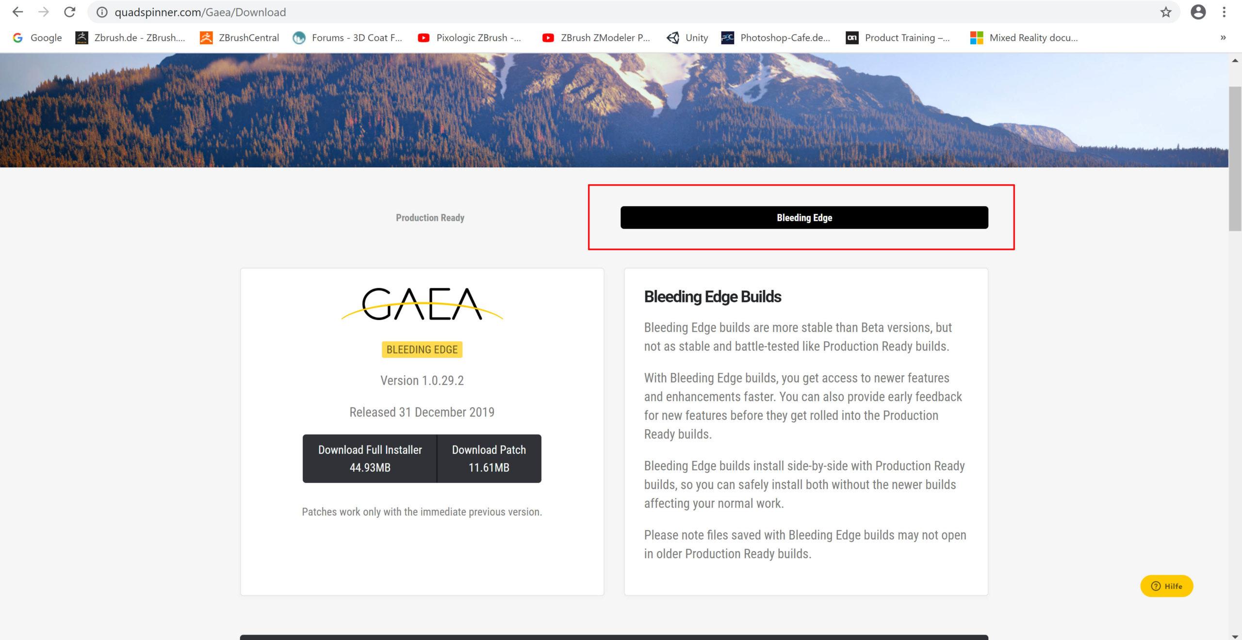 Gaea Bleeding Edge 1.0.29-download