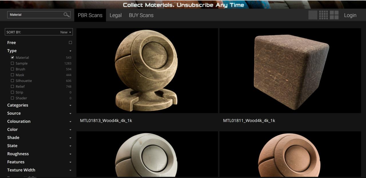 3D Coat Material Store