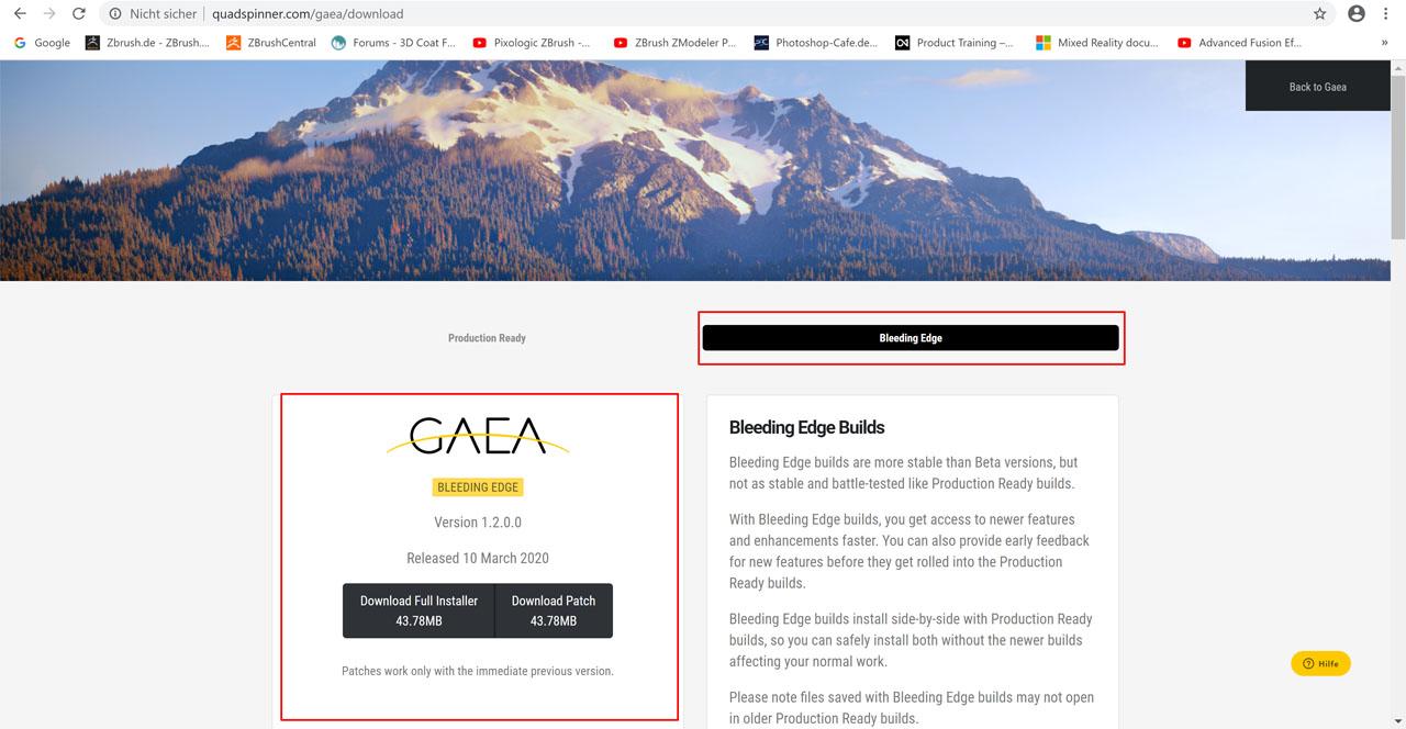 Quadspinner Gaea Bleeding Edge 1.2.0.0 Download