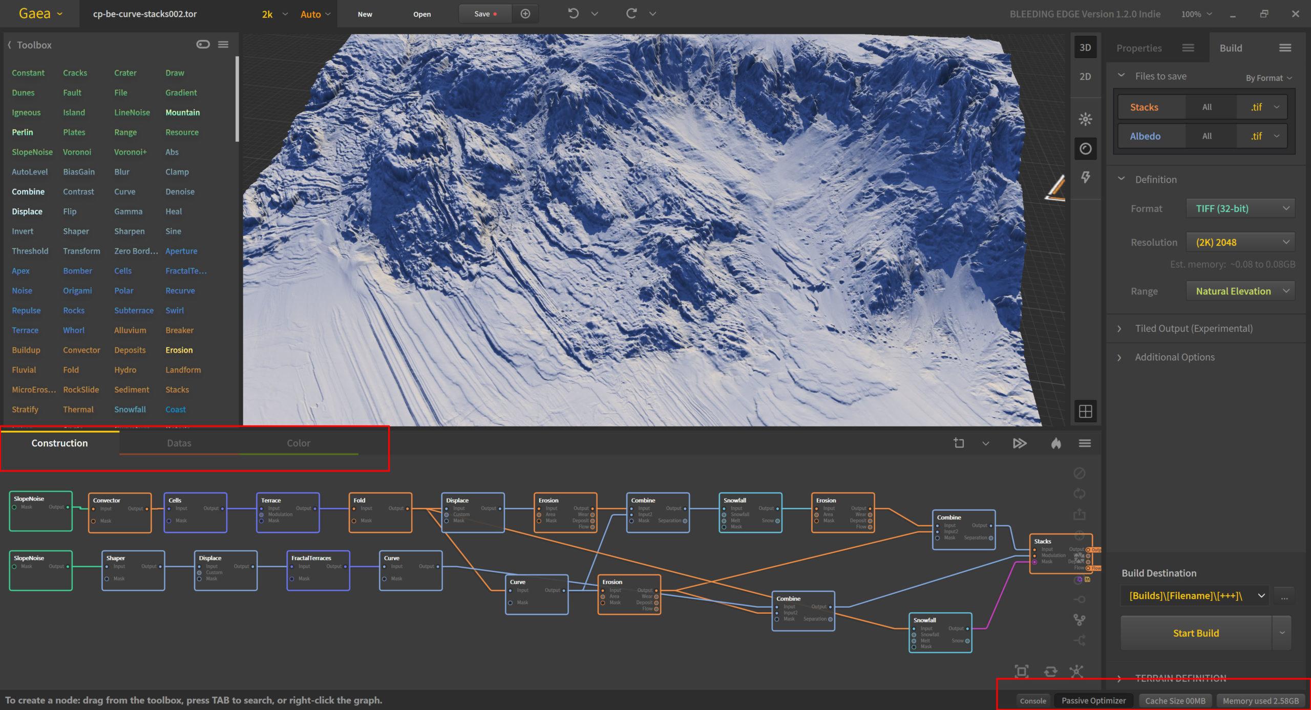 Quadspinner Gaea Bleeding Edge 1.2.0.0 Graphs and Cache