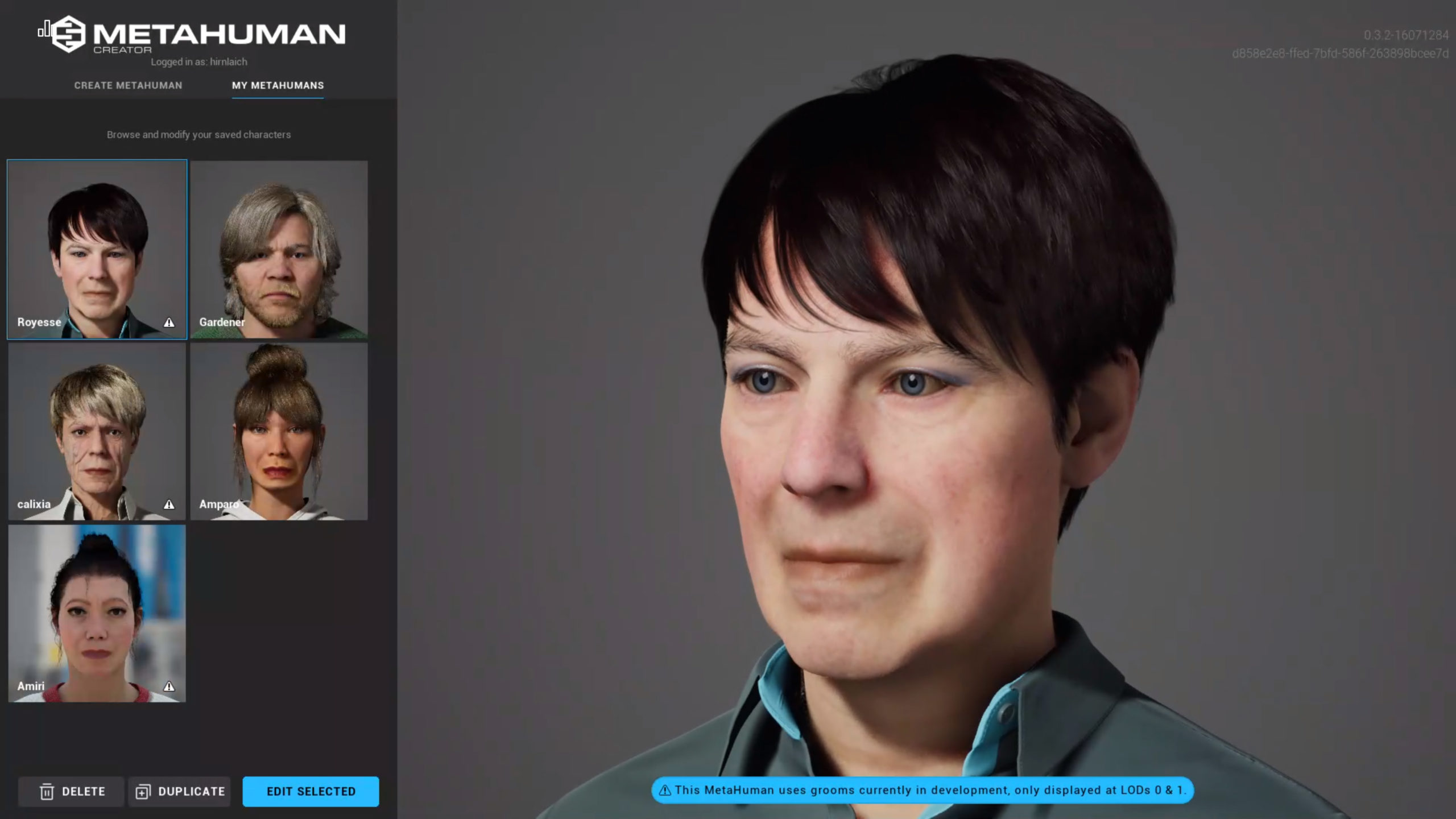 This is Royesse a MetaHuman created with the Unreal Engine Metahuman Creator