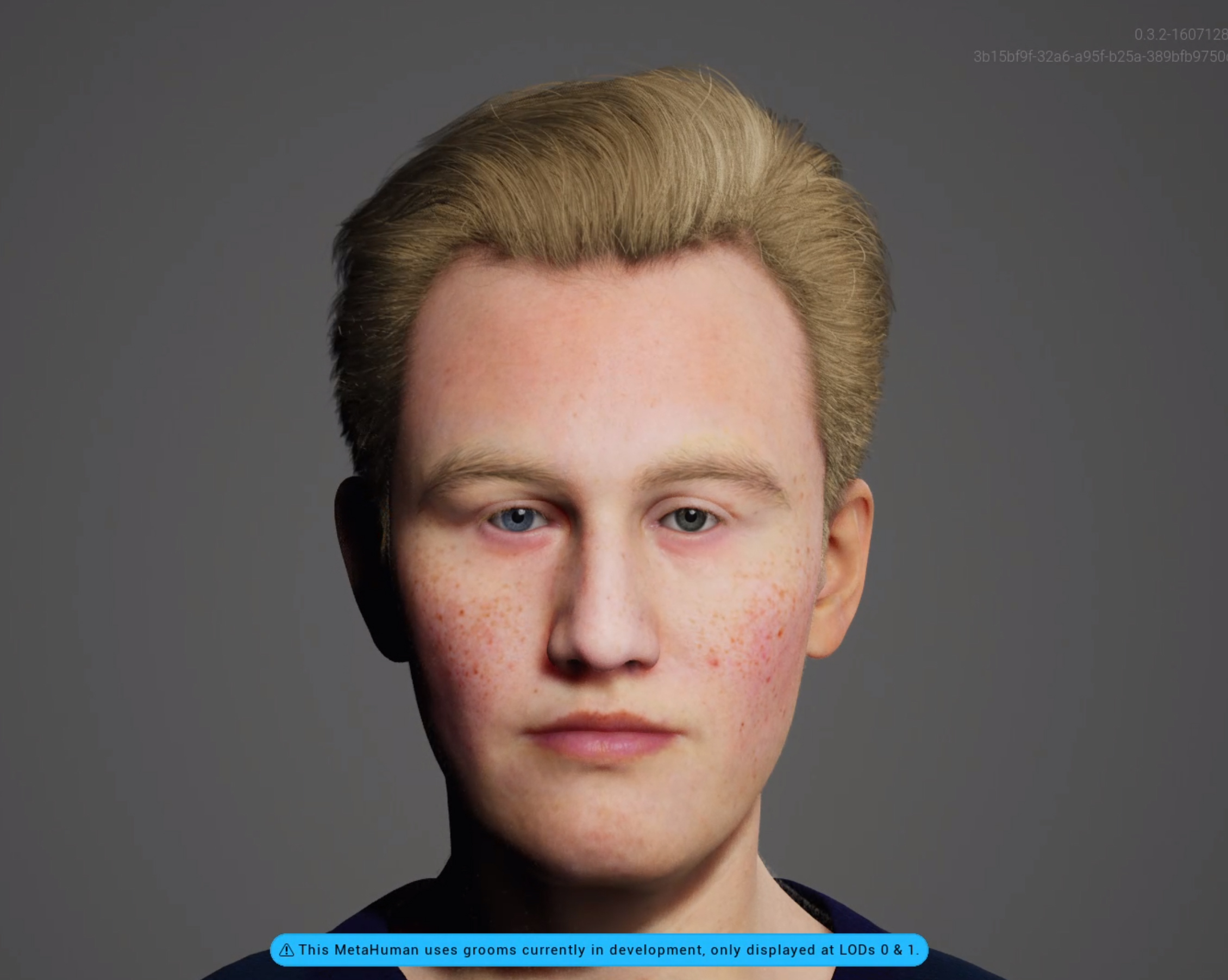 This is Roger a MetaHuman created with the Unreal Engine Metahuman Creator