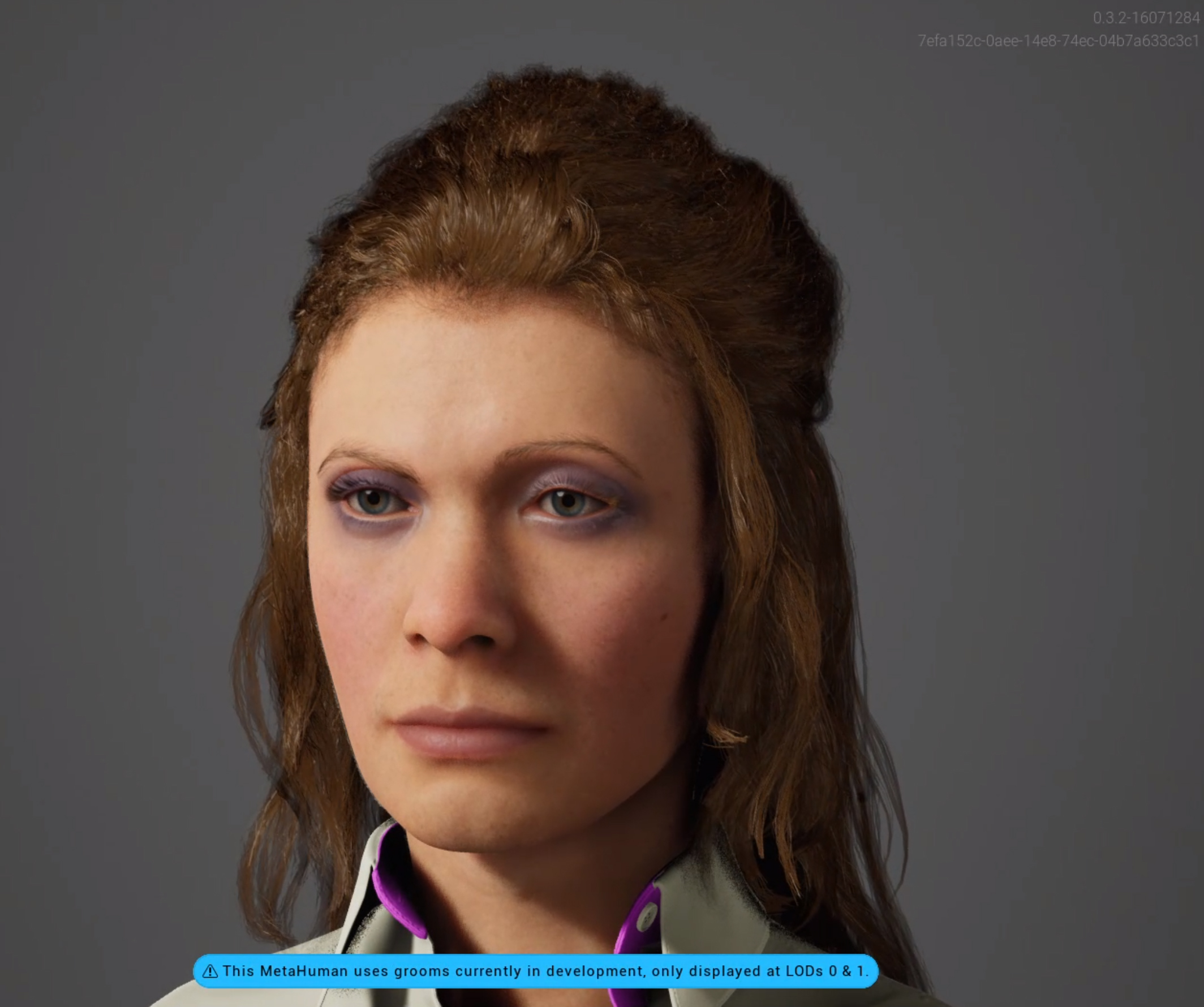 This is Claudine a MetaHuman created with the Unreal Engine Metahuman Creator