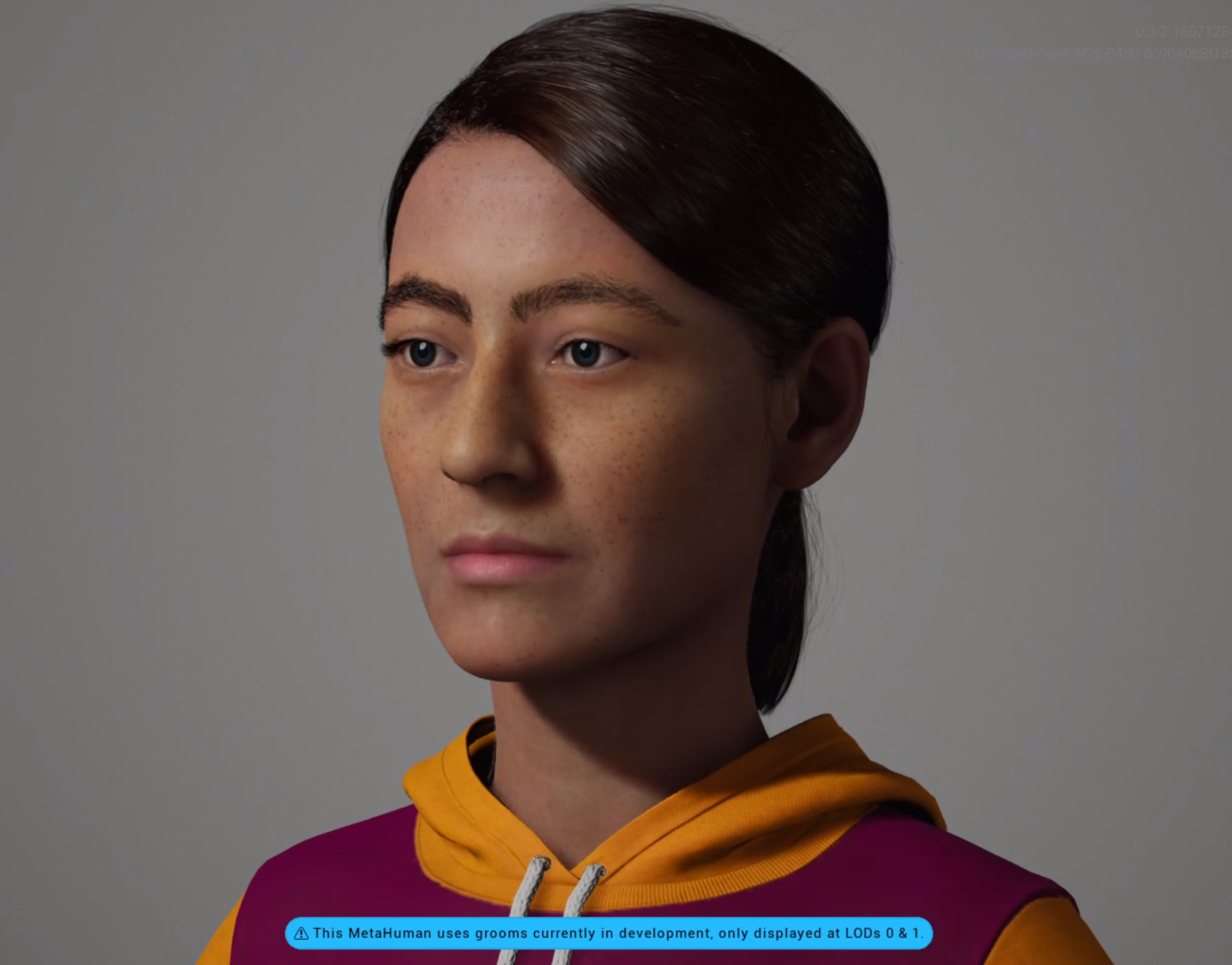 This is Bernadette a MetaHuman created with the Unreal Engine Metahuman Creator