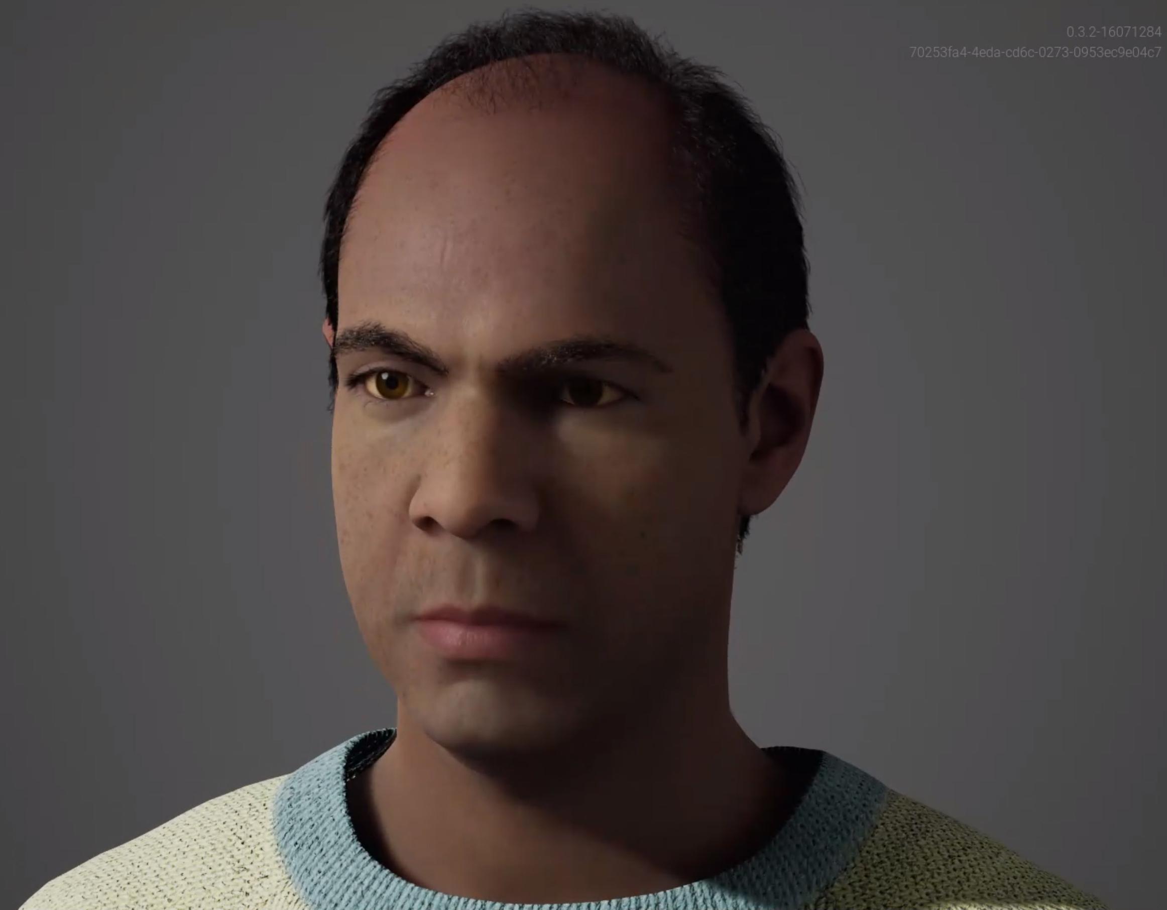 This is Jose a MetaHuman created with the Unreal Engine Metahuman Creator